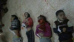 Syrian barrel bomb's little victims