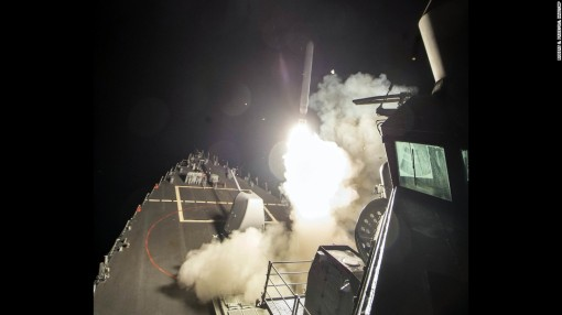 Tomahawk launch from USS Ross