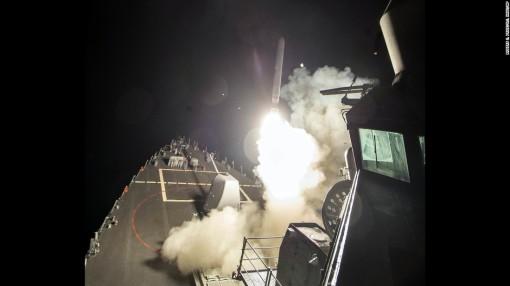 Tomahawk launch from USS Ross